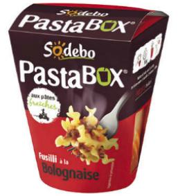 Pastabox Sodebo à la bolognaise
