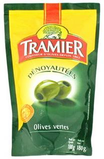 1€ de réduction pour tout achat d'huile ou d'olives Tramier - Ex : Sachet d'olives dénoyautées 100g à ~