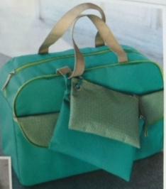 1 sac de voyage turquoise + ses 2 pochettes