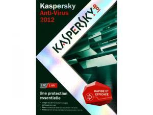 KAspersky antivirus 2012 1 poste/ 1 an