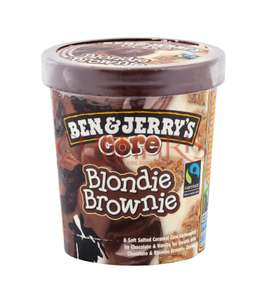 3 pots de crème glacée Ben & Jerry's  Blondie Brownie  (panachage possible) de 500ML (soit 1.5L)