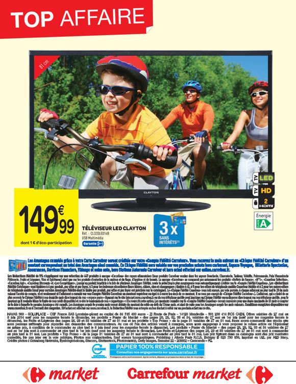 """Televiseur 32"""" Clayton CL32DLED14 - 1366 x 768"""