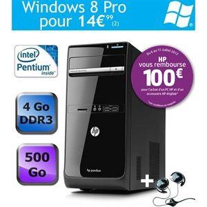 PC de bureau HP Pavilion P6-2102ef + casque stéréo HP avec ODR (100€)