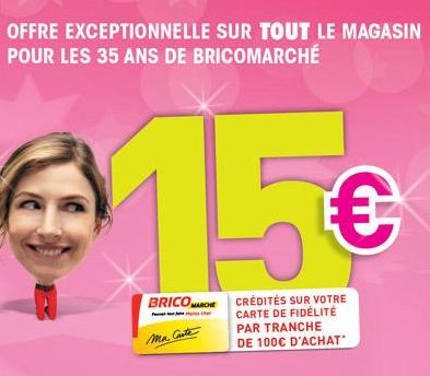 [Le 29/05] 15€ en bon d'achat par tranche de 100€