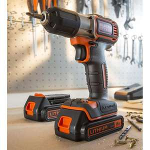 Perceuse-Visseuse Black&Decker Lithium 18V 2 batteries Autosense