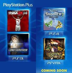 Playstation Plus de juin : Trine 2 (PS4), NBA 2k14 (PS3), Dragon's Crown (PSVita), Pixel Junk Shooter (PS4)...