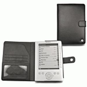 Housse cuir Norêve Noire pour Sony Reader eBook Pocket Edition PRS-300