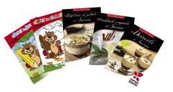 Pochette publicitaire gratuite (4 livrets de recettes, 1 album à colorier, 1 carnet de jeux)