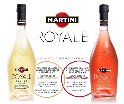 2 Bouteilles Martini royale Bianco ou Rosato 75cl (2éme à -50%)