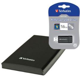 """Pack Disque Dur Externe 2.5"""" USB3 1To Store 'n' Go Noir + Clé USB Verbatim 16Go"""