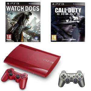 Console PS3 500Go + Watch Dogs + Call of Duty + 2 manettes