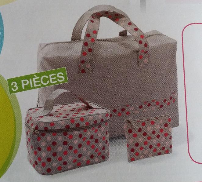 1 sac de voyage + 1 vanity + 1 pochette