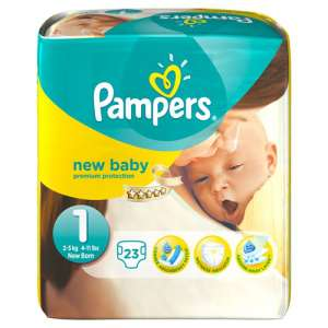 Pack 23 couches Pampers New Baby 2-5 kg