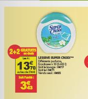 4 packs Lessive Super Croix (20 écodoses)  - Différents parfum