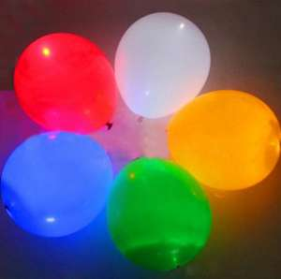 Lot de 5 ballons lumières pour décorer
