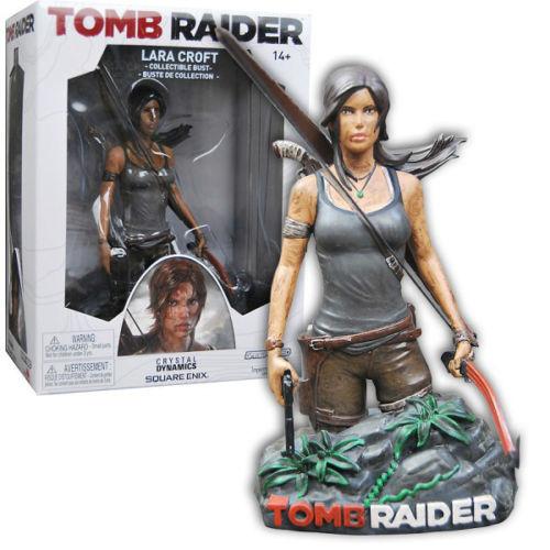 Buste résine 13cm Tomb Raider Lara Croft / Port inclus