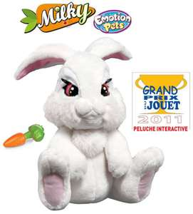 Peluche interactive - Emotion Pets : Milky le lapin