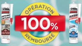 A partir du 01/05 : Mastic Rubson 100 % remboursé via ODR