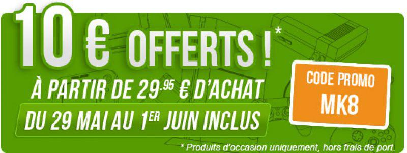 10€ de réduction dès 29.95€ d'achat