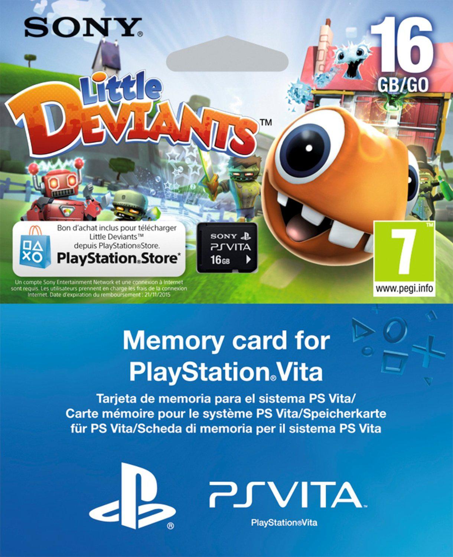 Carte mémoire Sony PS Vita 16 Go + Jeu Little Deviants (Dématérialisé)
