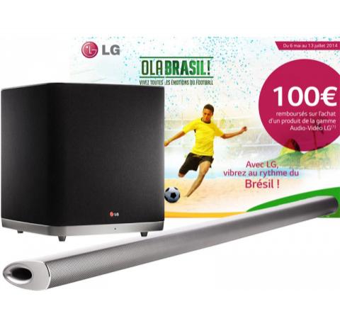 Barre de son + Caisson sans fil LG NB5540 Bluetooth 320 Watts 4.1 (  avec ODR 100€ )