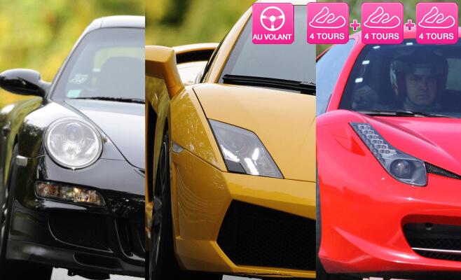Sprint Racing : Coffret cadeau 5 tours au volant d'une voiture de Sport (Porsche, Mustang, Ferrari, Lamborghini...),