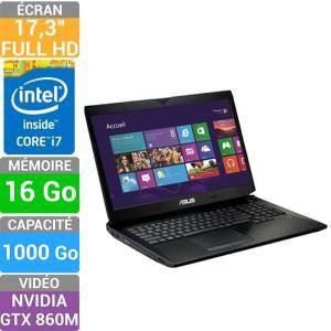 "PC Portable 17,3"" Asus G750JM-T4051H - Full HD - i7-4700HQ - 16Go - NVIDIA GeForce GTX860M 2Go"