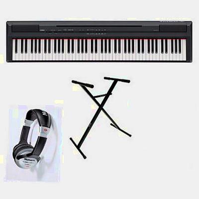 Piano numérique Yamaha P-105 noir + pupitre + pédale  + pied + casque audio