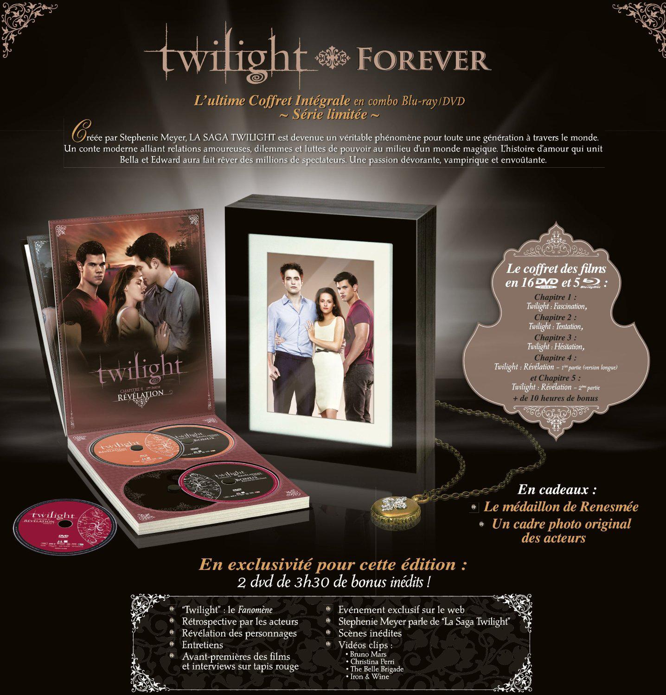 Twilight, La saga : Le Coffret Intégrale Edition Limitée - Combo Bluray+DVD  - Photos et Pendentif