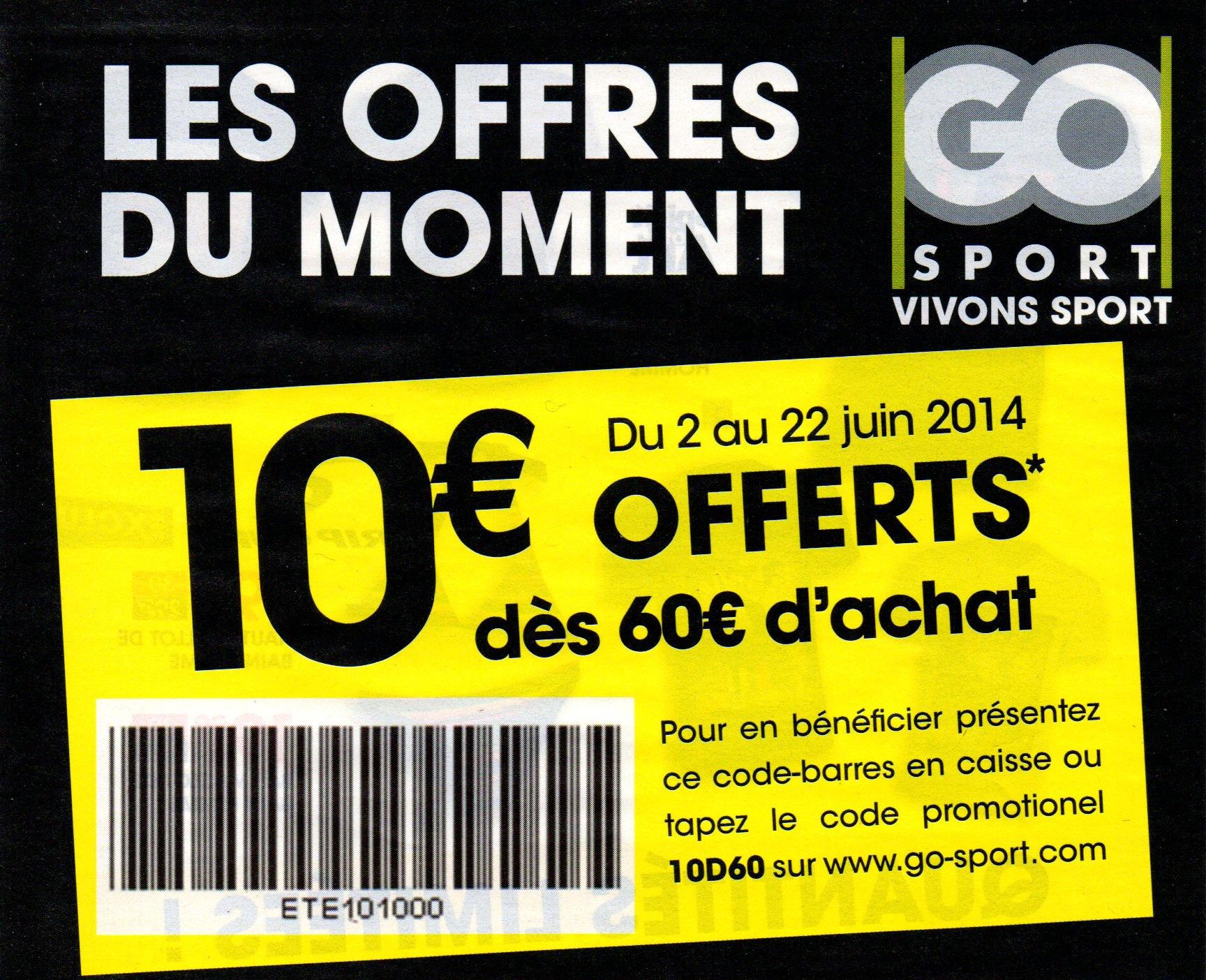 Réduction de 10€ dès 60€ d'achat en ligne et en magasin