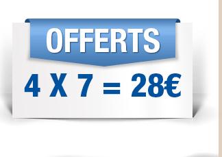 7€ de réduction dès 70€ d'achats (valable 4 fois)