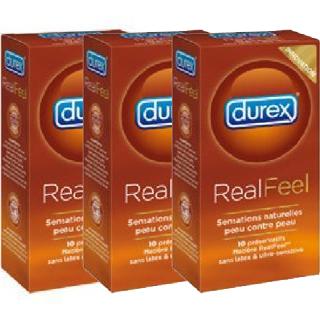Pack de 3 boîtes de 10 préservatifs Durex Realfeel