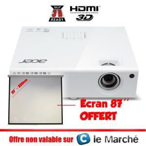 """Vidéoprojecteur DLP 3D Acer X1373WH  + Ecran de projection 87"""""""