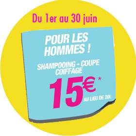 Coiffure Homme (Shampooing, coupe, coiffage)