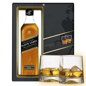Coffret Scotch Whisky Johnnie Walker Black Label  70cl 40° + 2 verres