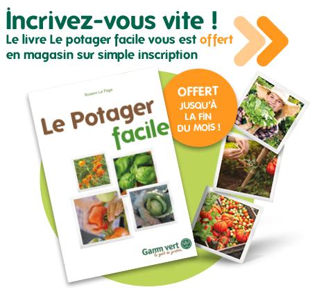 """Livre """"Le potager facile"""" gratuit"""