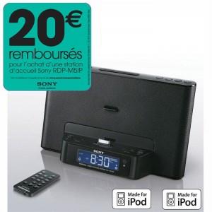 Station d'accueil SONY ICF-DS15IP avec radio réveil pour iPod/iPhone