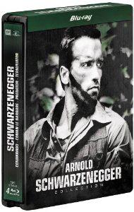 Coffret 4 Blu-ray  : Conan le barbare + Commando + Predator + Terminator - Edition limitée boitier métal