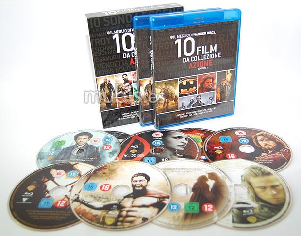 Coffret Blu-ray avec 9 Films d'Action Warner (Import Italie)