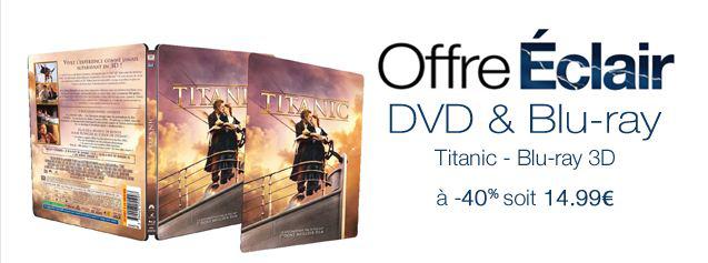 Titanic [Blu-ray 3D] en boîtier SteelBook avec image lenticulaire