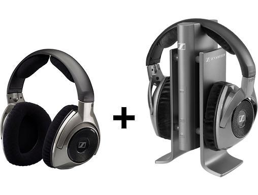 Pack Casque sans fil Sennheiser RS180 + casque sans fil supplémentaire HDR180
