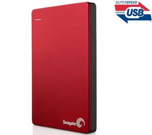 """Disque dur externe 2,5"""" Seagate Backup Plus 1 To USB 3.0 - Rouge"""