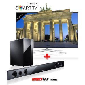 "TV LED 50"" 3D Samsung 50H6400 + Barre de son Samsung HW-F450 + Tablette Samsung Galaxy tab3 7'' lite offerte"