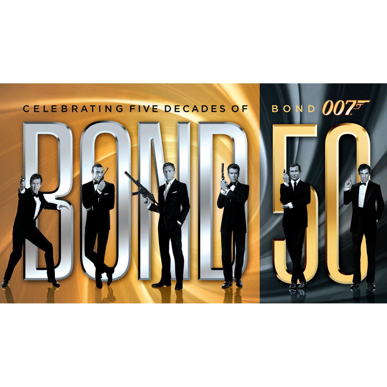 Coffret Blu-ray Intégrale James Bond 23 épisodes dont skyfall édition 50 ans