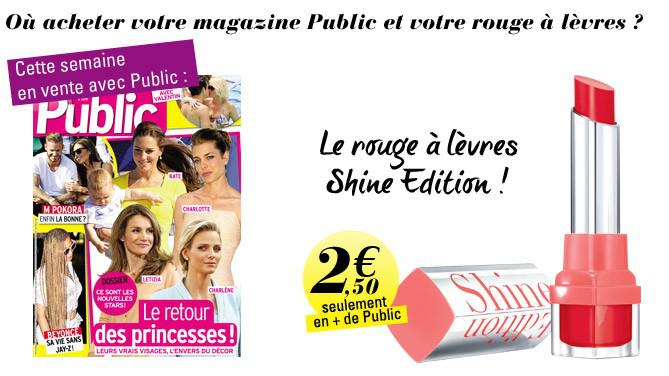 Magazine Public + rouge à lèvres Bourjois