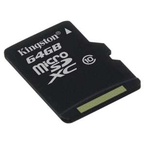 Carte Mémoire Kingston 64 Go Micro SDXC Classe 10 (FDP in)