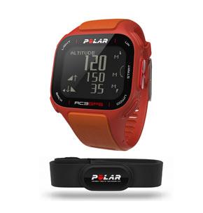 Montre de sport Polar RC3 GPS HR orange avec ceinture pectorale