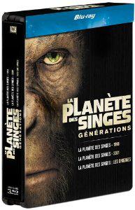 Coffret Blu-ray La Planète des singes : les versions 1968, 2001 et 2011 - Edition limitée boitier métal