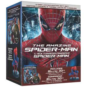 Coffret Blu-ray The Amazing Spider-Man 3D: Edition Limitée Collector avec Figurine