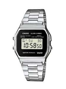 Montre Casio A158WEA-1EF Mixte Quartz Digital Bracelet Acier